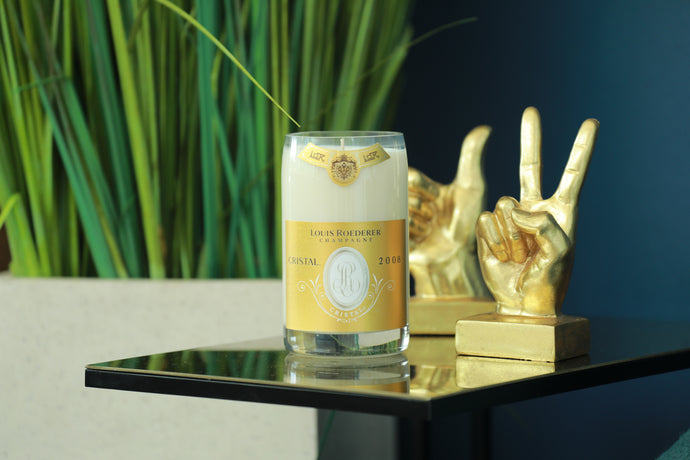 Cristal Champagne Bottle Candle - Candleholic Shop