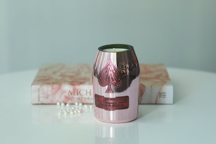 Pink Ace of Spade  Champagne Candle - Candleholic Shop