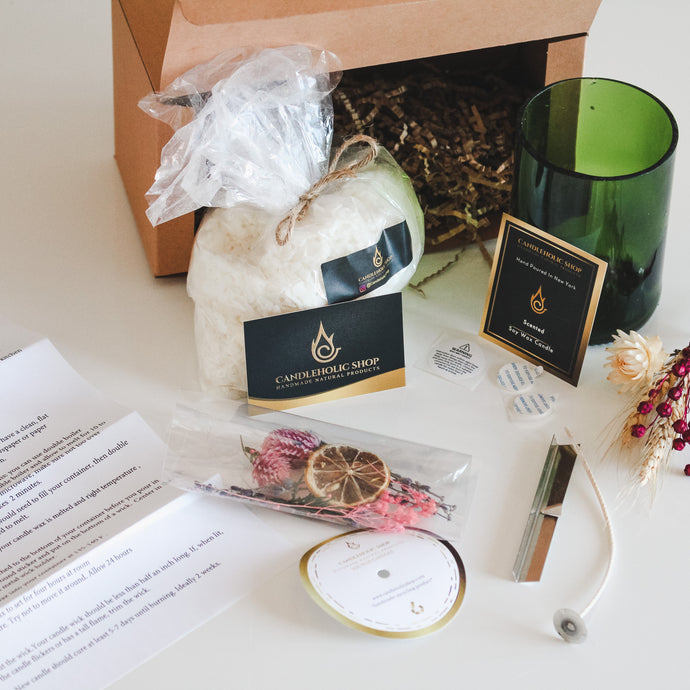 DIY Candle making kit for beginner. Soy Wax Candle by you - Candleholic Shop