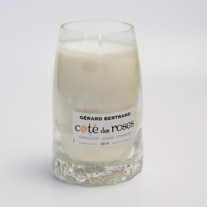 French Rose Wine Bottle Candle - Candleholic Shop