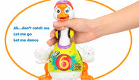 Cute Intelligent Hip Hop Dance Read Tell Story Interactive Swing Goose Toy
