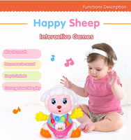 Learning & Talking Sheep with Playback Recording, Musics, Lights, Bump and Go Action Musical Toy