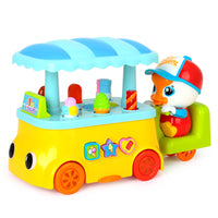 Funny Candy Ice-Cream Car with Light & Music Learning Educational Toy