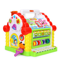 Multifunctional Musical Fun House Electronic Geometric Blocks Sorting Learning Toy
