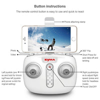 Syma X22W Mini FPV Camera RC Drone Altitude Mode App Control Quadcopter - Kiditos