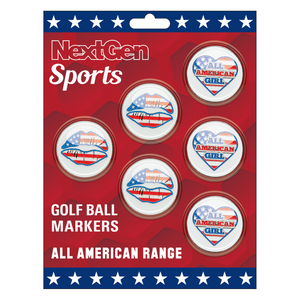 All American Girl & Lips Golf Ball Markers