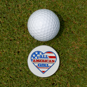 All American Girl Golf Ball Marker Set