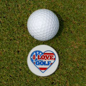 I Love Golf Golf Ball Marker Set