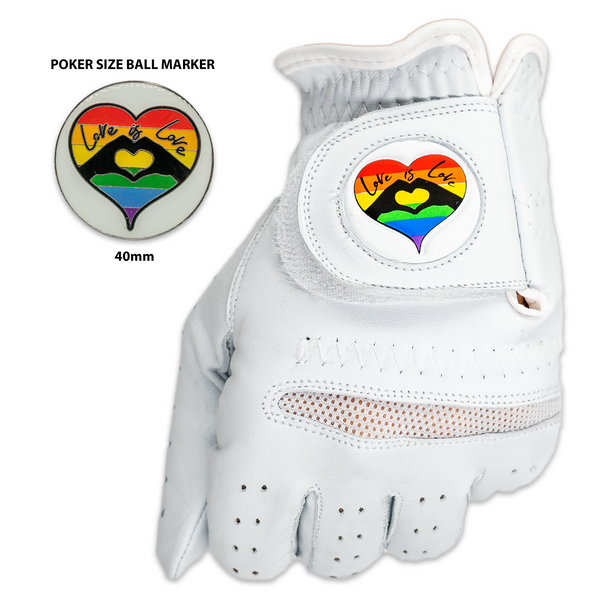 Love is Love Golf Gloves With A Matching Ball Marker