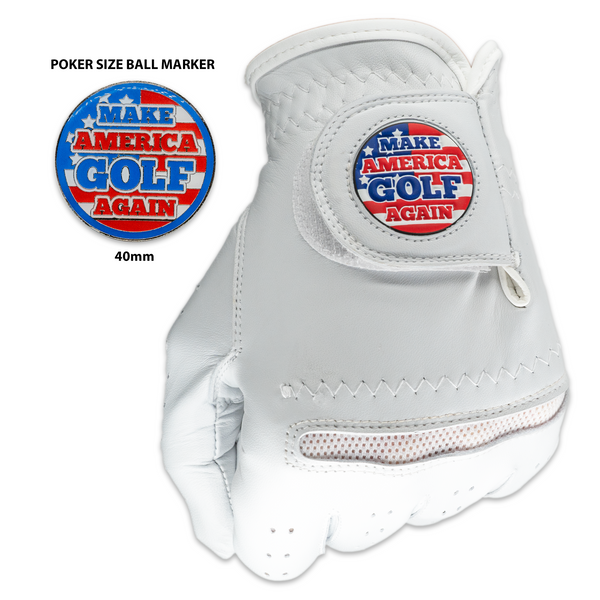 Make America Golf Again (MAGA) Golf Gloves With Matching Ball Marker