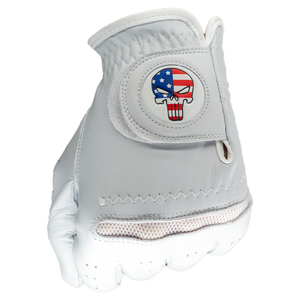 The Punisher Golf Gloves With Matching Ball Marker