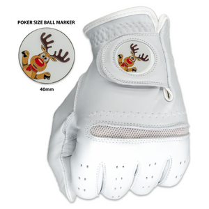 Christmas Reindeer Glove with Matching Ball Marker