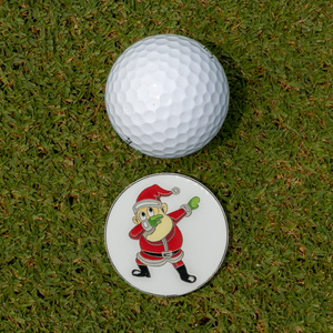 Santa Dab Golf Glove with Matching Ball Marker