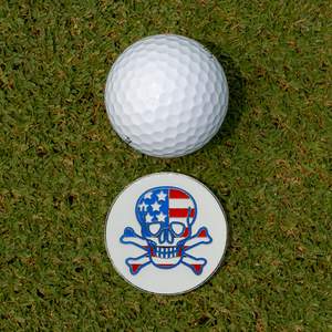 Skull Golf Gloves With Matching Ball Marker