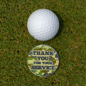 Thank You For Your Service Golf Gloves With Matching Ball Marker