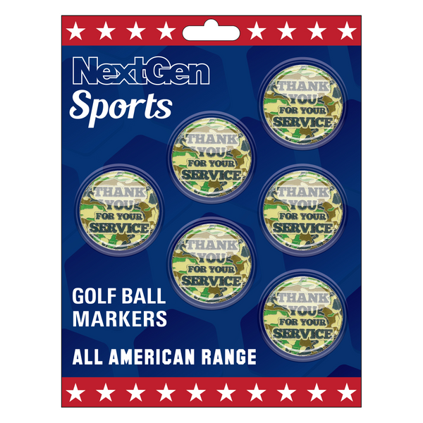 Thank You For Your Service Ball Markers