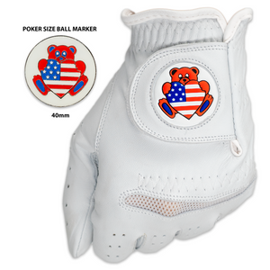Teddy Bear Golf Glove with Matching Ball Marker