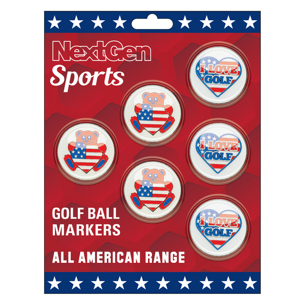 Teddy Bear & 'I Love Golf Golf' Ball Markers