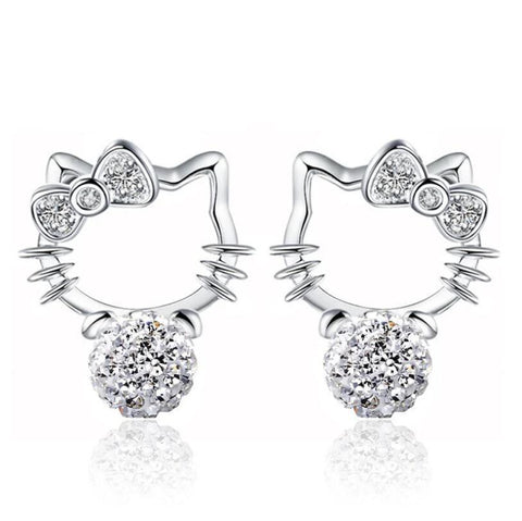Boucles d'Oreilles Hello Kitty Swarovski