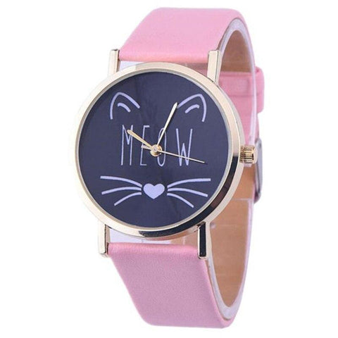 Montre Chat Adulte Félin Rose