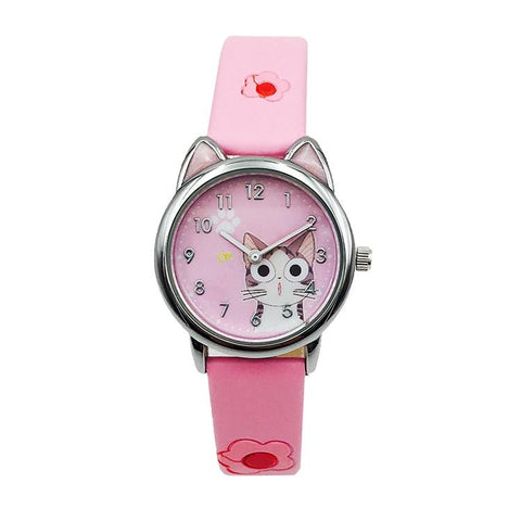 Montre Chat </br>L'Enfant Félin Rose