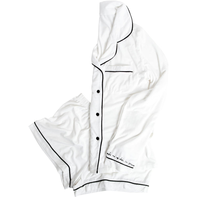 Biarritz Pajama Short Set, White