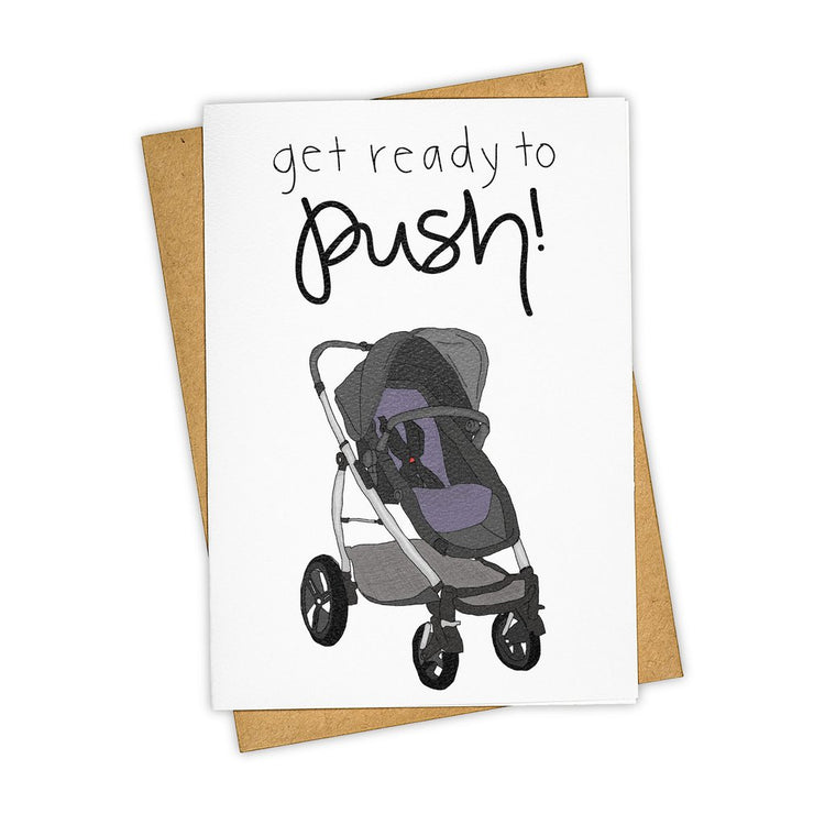 Get Ready to Push Greeting Card