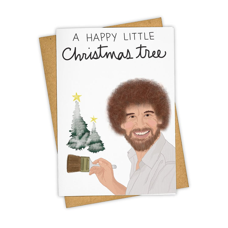 Happy Little Trees Christmas Card