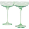 Estelle Coupe Glass, Set of 2 (Mint Green)