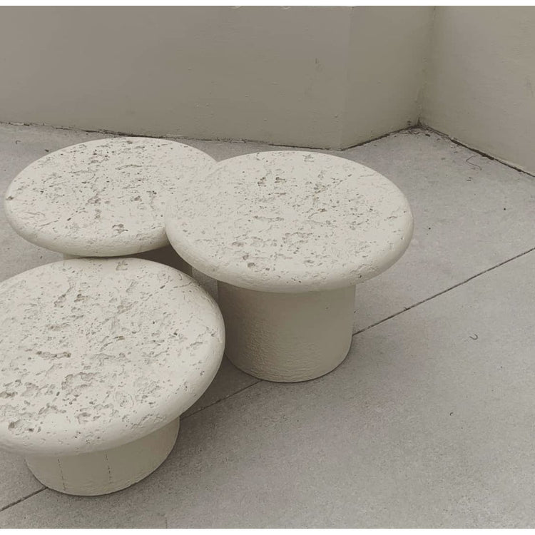 Set of Three Resin Tables