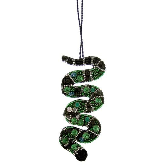 Beaded Snake Ornament