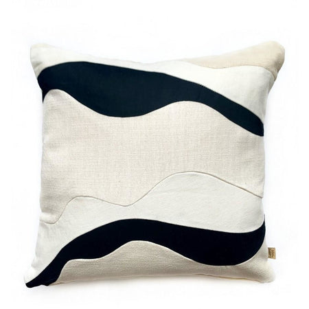 Black/White Square Pillow