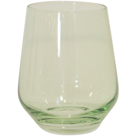 Estelle Stemless Wine Glass, Set of 6 (Mint Green)