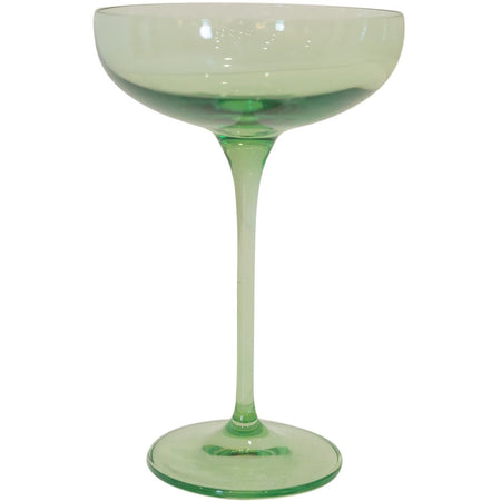 Estelle Coupe Glass, Set of 6 (Mint Green)
