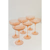 Estelle Coupe Glass, Set of 6 (Blush)