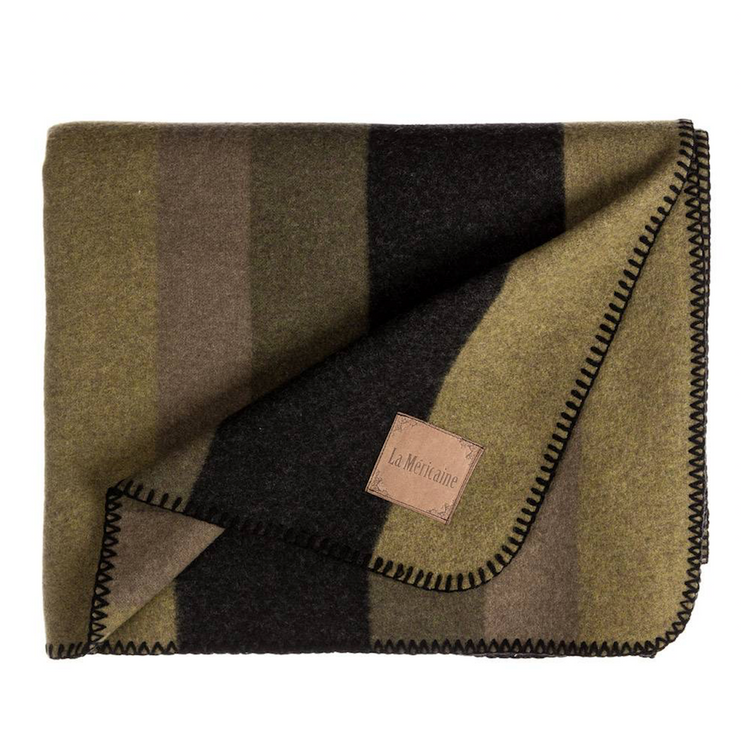 French Olive Green Blanket
