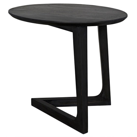 Oval Black Side Table