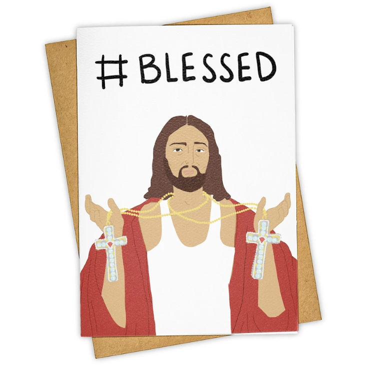 #Blessed Greeting Card