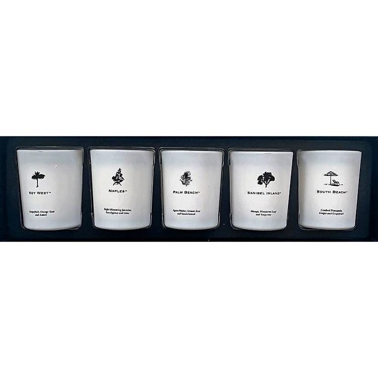 Florida Coast 5 Piece Votive Set