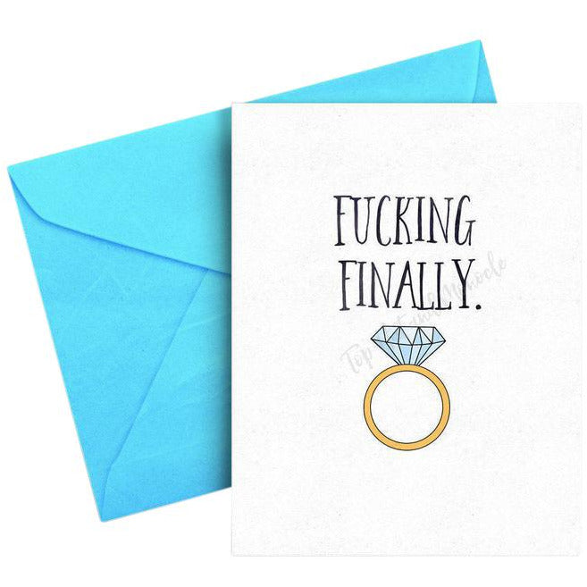 Finally Engaged Card