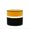 Striped Velvet Pouf