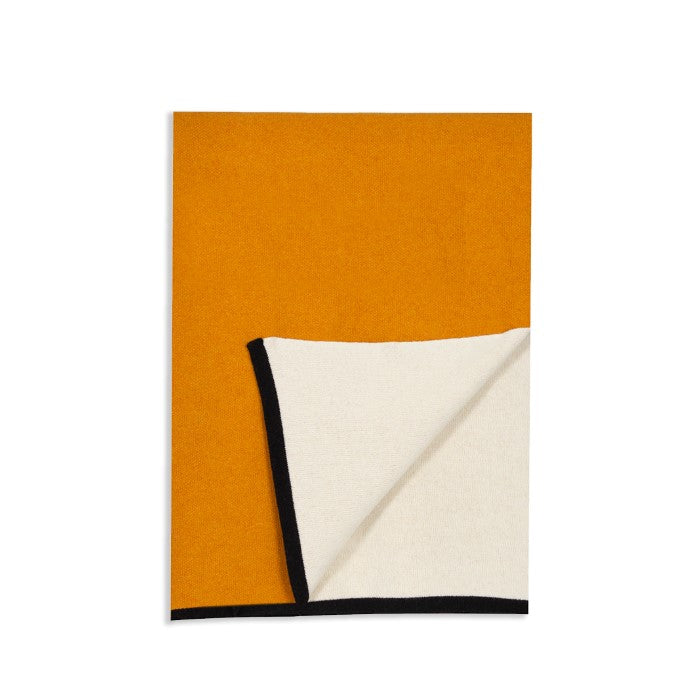 Reversible Throw Blanket, Ocre