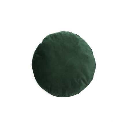 Round Velvet Cushion, Emerald