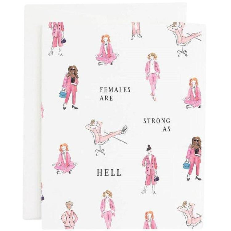 Strong Female Card