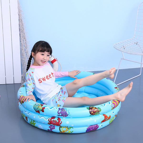 Children's inflatable pool baby swimming pool paddle fishing pool ocean ball pool