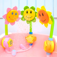 Electric sunflower shower summer baby shower sunflower spray manual shower shower bathroom children's toys