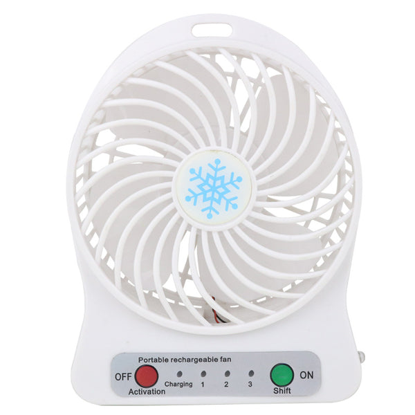 USB snowflake desktop fan