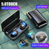 TWS English F9 Bluetooth headset breathing light binaural LED display charging compartment in-ear style