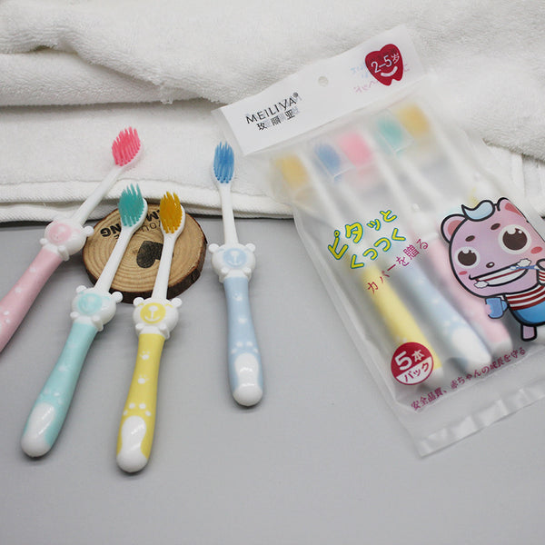 5 toothbrushes for children
