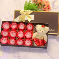 Valentine's Day Gift Soap Rose Gift Box